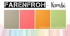 Farbenfroh-Kombi, Bastelglanz, Taupe, Melonensorbet, Kürbisgelb Frangrün, Stampin' Up!