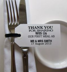 Wedding Table DecorPersonalized Wedding Napkin by IzzyandLoll, £31.50 @Jenna Nelson Nelson Garlock