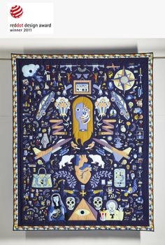 Amazing applique quilt by Katrin Rodegast