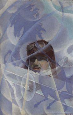Apoteosi di Francesco Baracca - 1936 by Alessandro Bruschetti (Italian, 1910-1980)