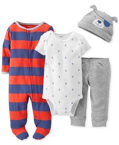 Carter's Baby Boys' 4-Piece Nautical Set - Kids Baby Boy (0-24 months) - Macy's