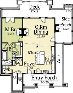 Best Modern Farmhouse Floor Plans that Won People Choice Award Tags: farmhouse sink, farmhouse table, farmhouse decor, farmhouse kitchen, farmhouse plans flip the g.room with the kitchen and it's perfect. Rustic House Plans, Pole Barn House Plans, Farmhouse Floor Plans, Mountain House Plans, Farmhouse Flooring, Pole Barn Homes, Barn Plans, Small House Plans, Farmhouse Table