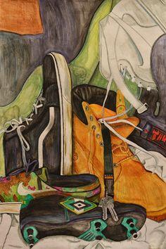 Part of a higher expressive folio high school art, middle school art, still life Sports Drawings, Still Life Artists, Still Life Drawing, Feminist Art, Expressive Art, Ap Art, Gcse Art, Arts Ed, High Art