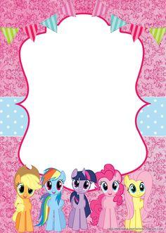 My Little Pony Invitations, Dinosaur Birthday Invitations, Free Printable Birthday Invitations, Birthday Card Template, Invitation Templates, Disney Invitations, My Little Pony Decorations, My Little Pony Craft, Cumple My Little Pony