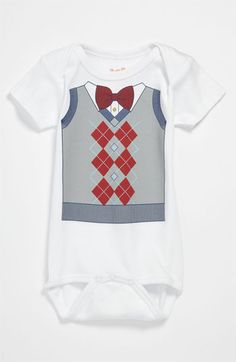 Sara Kety Baby & Kids Argyle Vest Bodysuit (Infant) available at Nordstrom