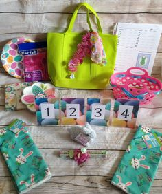 16 Person (4 Tables) Hoppy Easter Bunco ACCESSORY Kit- To enhance your regular Bunco Kit. (If you need dice, bell & instructions- let me know