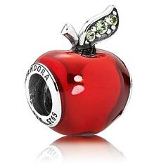 Disney Snow White Apple Charm by PANDORA | Disney StoreSnow White Apple Charm by PANDORA - Commemorate Snow White's iconic poison apple with this sterling silver charm featuring translucent glossy red enamel. Only the ''fairest of them all'' would have a charm with three beautiful bead-set dark green gems on the leaf.
