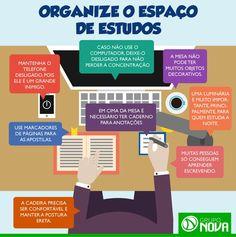 Vai estudar? Veja como uma mesa organizada pode melhorar seu rendimento. #estudos #produtividade