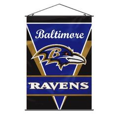 """The Baltimore Ravens Man Cave Wall Banner measuers 40"""" x 28"""""""