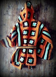 rugged bohemian jewelry and western gypsy vintage clothing handmade porcupine quill bullet jewelry hand painted animal skulls Crochet Cardigan, Crochet Shawl, Crochet Yarn, Crochet Stitches, Crochet Top, Granny Square Sweater, Knitting Patterns, Crochet Patterns, Crochet Circles