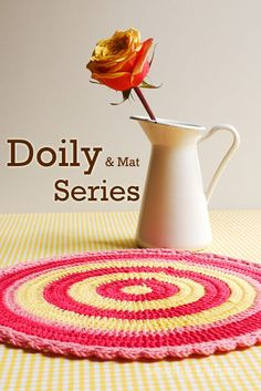 Doily & Mat Series- Sewing Daisies