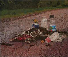 Inventaire / Inventory | Galerie Lilian Rodriguez  Jlien Boily, Obsèques, 2009, huile sur toile, 61 x 79 cm