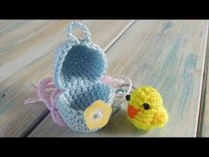 (128) (crochet - part 1 of 2) How To Crochet a Mini Chick & Egg - Yarn Scrap Friday - YouTube