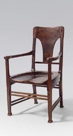 Style of Oskar Strnad (Austrian, Title: Armlehnstuhl , ca. Heart Of Europe, Glass Art, Art Deco, Chairs, Medium, Furniture, Design, Home Decor, Style