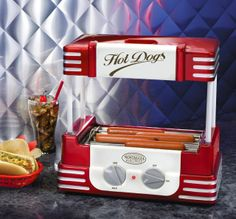 Nostalgia Electrics Retro Series Hot Dog Roller - Home Theater - Movie Room - Movie Theme Room - Media Room - TV Room - Den - Living Room - Family Room- Feng Shui Your Media Room with a Professional Feng Shui Consultation at www. Man Cave Bar, Cafe Bar, Carnival Themes, Party Themes, Party Ideas, Gift Ideas, Diy Carnival, Theme Ideas, Decor Ideas