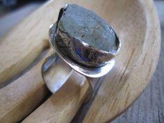 Seaglass & Sterling Ring Handmade etsy metal by JudithGayleDesigns, $65.00