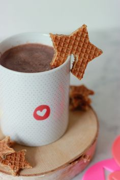 DIY Hot Choclote with a Stroopwafel! (It's a Dutch cookie, for more information, search on wikipedia.)