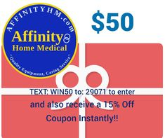 Contest ALERT! Text WIN50 to 29071 for a chance to WIN a $50 Gift Card from AffinityHM.com!! When you subscribe and enter by text, you will ALSO receive an automatic 15% Off Coupon which you may use on ANYTHING in the entire site!! Enjoy! Thanks for entering! (must be at least 18 years of age to enter) Coupons, At Least, Thankful, Age, Gift, Cards, Coupon, Maps, Playing Cards