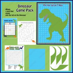 INSTANT DOWNLOAD diy  Dinosaur  Birthday Party  by CupcakeExpress, $10.00