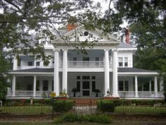 Vanishing South Georgia Hawkinsville Pulaski County GA Greek Revival Architecture House Home Mansion Southern Rural Photograph Photo Picture Image Copyright Brian Brown