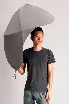 Ever noticed that rain comes at an angle, never straight? This umbrella shields you from angled rain and those nasty curbside puddle splashes.