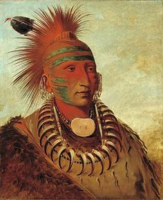 Warrior Iowa tribe, George Catlin