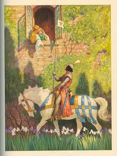 """""""The Prince"""" - Illustration by N.C. Wyeth, from """"The World of Music: Discovery,"""" Ginn and Company, 1937."""