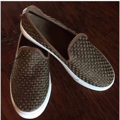 NIB slipons Bronze woven flats available in different sizes. Sizes 5.5, 6, 6.5sold out, 7, 7.5, 8, 8.5, 9, 10...true to size. Price is firm unless bundling. Shoes