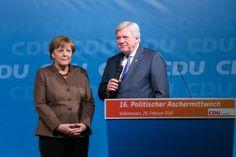 Angela Merkel | Volker Bouffier | Politischer Aschermittwoch CDU Volkmarsen | Fotograf Kassel | Karsten Socher Fotografie http://blog.ks-fotografie.net/pressefotografie/angela-merkel-volker-bouffier-kwhe16-volkmarsen/