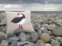 Handmade Puffin Cushion, by Seaforth Designs, £45.00