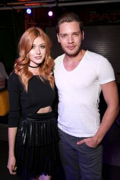 Katherine Mcnamara  and Dominic Sherwood at the MTV Fandom Awards pre-taping July 21. WE WON BEST NEW FANDOM