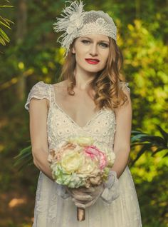 Vintage inspired bouquet for bride by Luanakeylla on Etsy, $285.00