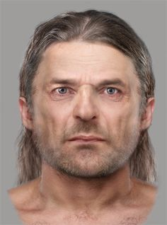 The Ancient Pict facial reconstruction. Body of a cist burial was uncovered at Bridge of Tilt near Blair Atholl in the Highlands, dating to 340-615AD, making it one of the earliest Pictish graves found in Scotland.reconstruction