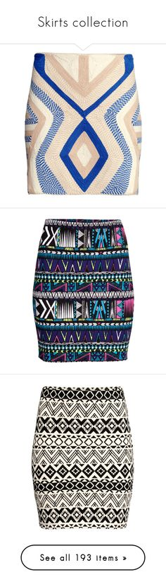 """""""Skirts collection"""" by vladoslav ❤ liked on Polyvore featuring skirts, h&m, lined skirt, embroidered skirt, h&m skirts, textured skirt, print skirt, jersey skirt, patterned skirts and elastic waist skirt"""