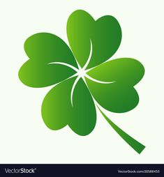 Four leaf clover icon vector image on VectorStock