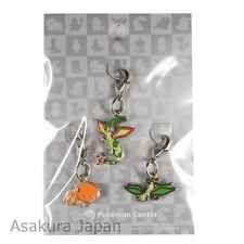 Pokemon Center Limited Flygon Vibrava Trapinch Metal Charm Set Japan key chain