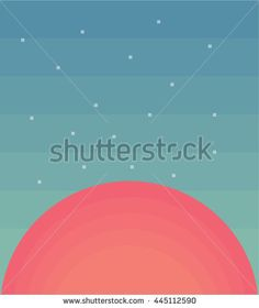 Abstract background with sunset - stock vector