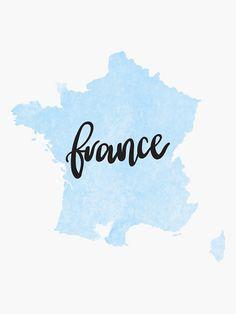 Pegatina «Francia País Acuarela» de alongcamekathy | Redbubble Instagram Symbols, Instagram Logo, Instagram Story, Together Quotes, Watercolor City, World Decor, City Icon, Travel Wall Art, France Art