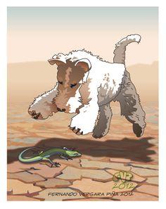El protagonista es un perrito Fox Terrier