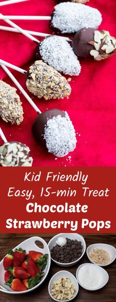 Easy, no bake dessert that kids and adults will enjoy. Strawberries and chocolate who doesn't love that combination. Easy Gluten Free Desserts, Fun Desserts, Delicious Desserts, Dessert Recipes, Baking Recipes, Healthy Sweet Treats, Valentines Food, Strawberry Desserts, Breakfast For Kids