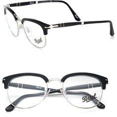 Persol Phantos Glasses ($285) ❤ liked on Polyvore featuring men's fashion, men's accessories, men's eyewear e men's eyeglasses