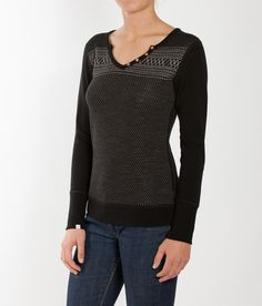 The lightweight, sexy apres top for any occasion is here, the 2017 We Norwegians Women's Setesdal Ski Casualwear Henley. Women's Henley, Casual Wear, Gifts For Her, Pullover, Blouse, Sexy, Sweaters, Black, Tops