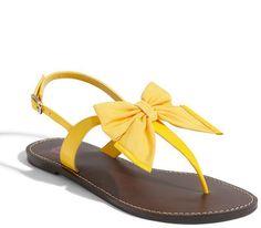 Yellow sandal.