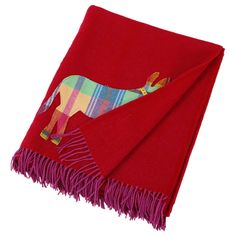 Novelty Donkey Throw Pink/Red - 183x142cm