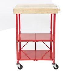 Origami Kitchen Cart with Wood Top & Reviews | Wayfair