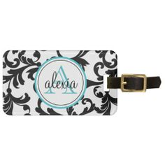 >>>Low Price Guarantee          	Black and Turquoise Monogrammed Damask Print Tag For Bags           	Black and Turquoise Monogrammed Damask Print Tag For Bags lowest price for you. In addition you can compare price with another store and read helpful reviews. BuyThis Deals          	Black and...Cleck Hot Deals >>> http://www.zazzle.com/black_and_turquoise_monogrammed_damask_print_luggage_tag-256651514883989742?rf=238627982471231924&zbar=1&tc=terrest