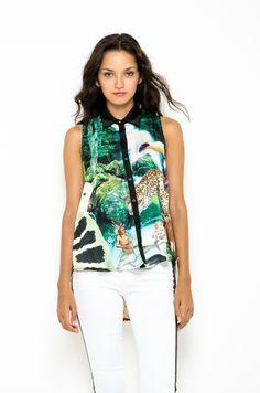 Camisa Larga Sublimada - Selva en DeluxeBuys!