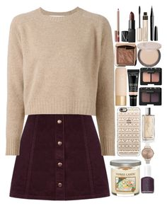 """Autumn Wind"" by chawy-mk ❤ liked on Polyvore featuring Oasis, Marni, Marc Jacobs, Josie Maran, NARS Cosmetics, By Terry, Eve Lom, Hourglass Cosmetics, Casetify and Olivia Burton"