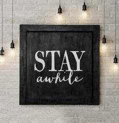 This large vintage inspired handmade sign would make a great conversation piece in a dining room or breakfast area. The layered shades of black add visual interest while the carved and hand-painted wo