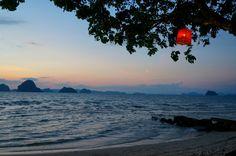 Sunset over Tubkaek Beach, Krabi